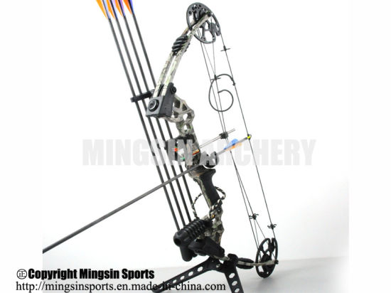 China Aluminum Alloy Compound Bow With 20 70 Lbs Draw Weight Camo