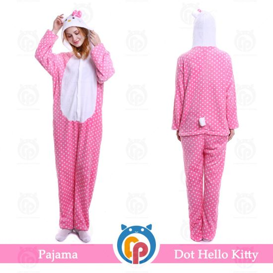 cd4e635aa Popular Pajamas Flannel Cosplay Hello Kitty Night Wear Pajamas Sleepwear