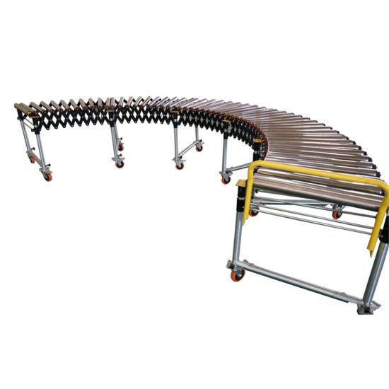 Gravity Flexible Unloading Roller Conveyor Line