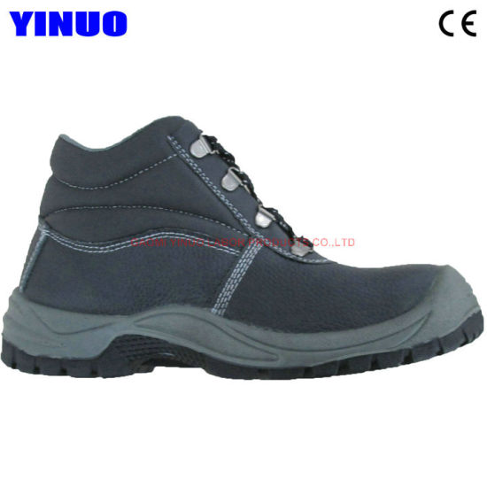 Genuine Leather Men Industrial Construction Safety Work Shoe