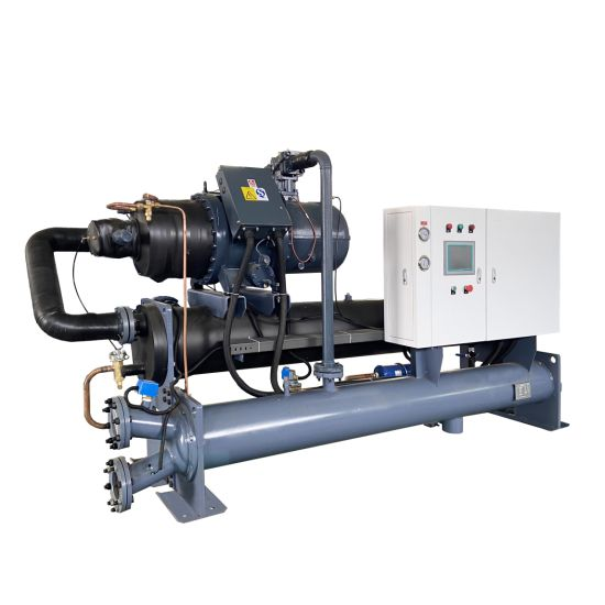 Plastic PVC Line Extrusion Machine Cooling 100 Ton Screw Compressor Type Automatic Water Cooled Chiller