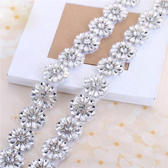 Bridal Sash Crystal Rhinestone Beaded Belts Wedding Sash Belt Rhinestone  Trims cc9089559829