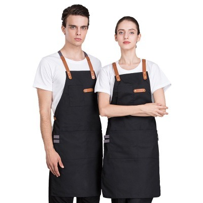 Hot Sale Customized Wholesale Leather Belt Buckle Denim Canvas Bib Apron