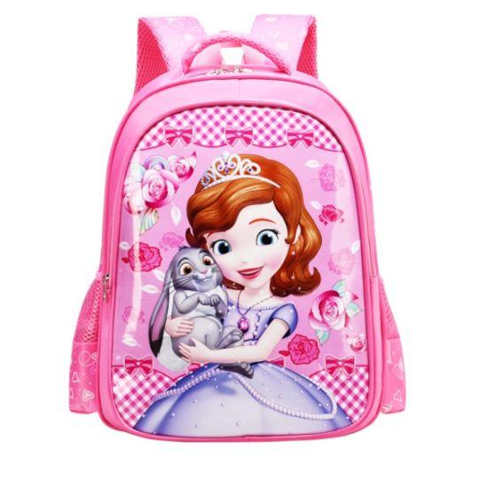 322f674ba6dd Fashion 2D Cartoon Printing Waterproof PU Fabric Kids School Bags