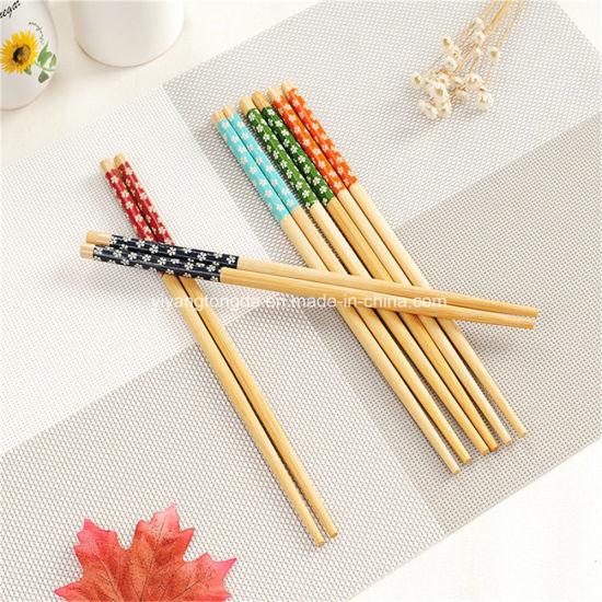 Customized Print Bamboo Reusable Set Art Chopstick