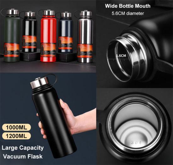 Double Wall Sports Vacuum Insulated Hot Thermal Flask