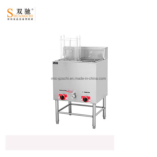 Stainless Steel Free-Standing Gas Fryer 1-Tank Sc-76 pictures & photos