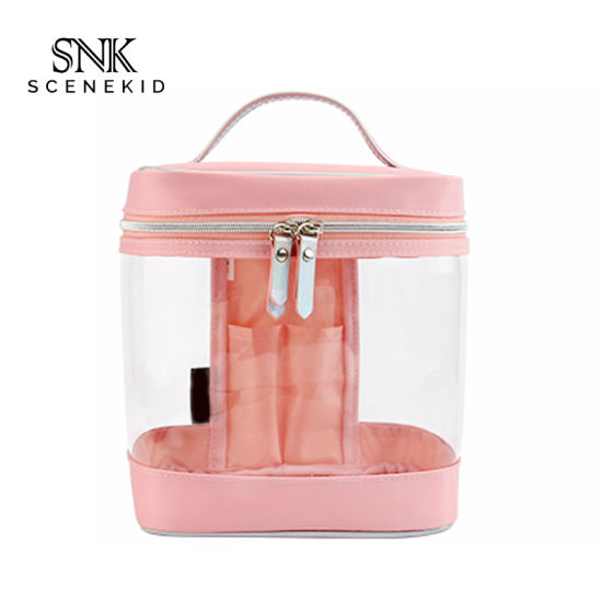 Wholesale Waterproof PVC Cosmetic Ziplock Clear Bag Case, Transparent Toiletry Makeup Bag for Travel