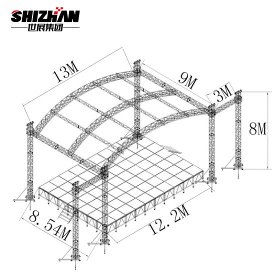 China Steel Structure Outdoor Buildings With Space Frame And Steel Roof Truss Design China Aluminum Truss And Stage Truss Price