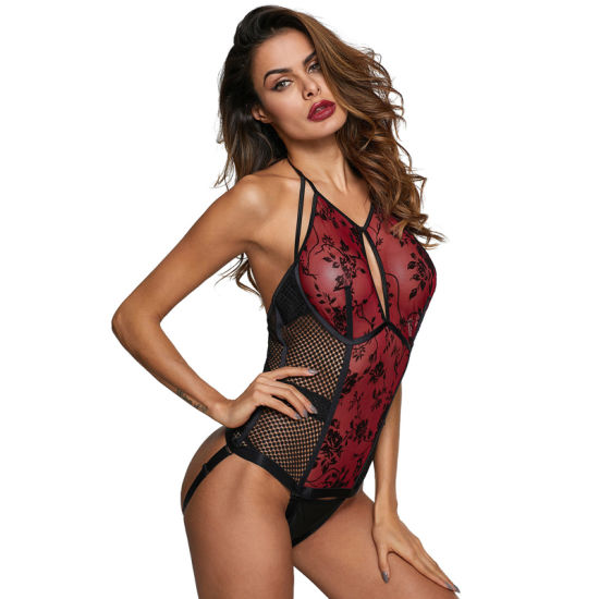 192a1e774 ... Wholesale Sexy Lady Red Roses Bustier Teddy Bodysuit Lingerie ...