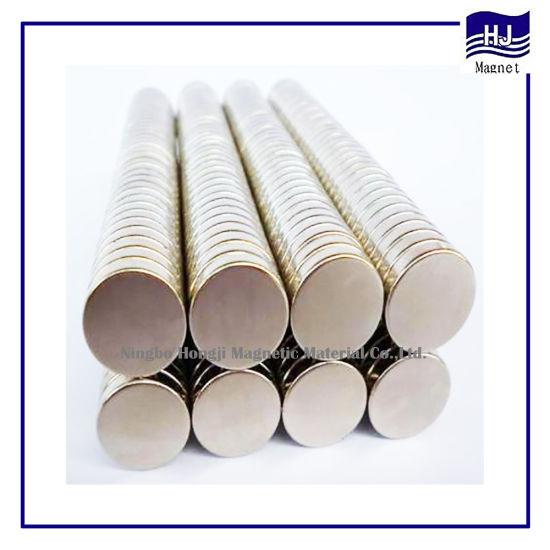 Strong Power Cylindrical Wafer Neodymium Magnet