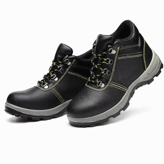 Black Leather Men Safety Shoes in Guangzhou