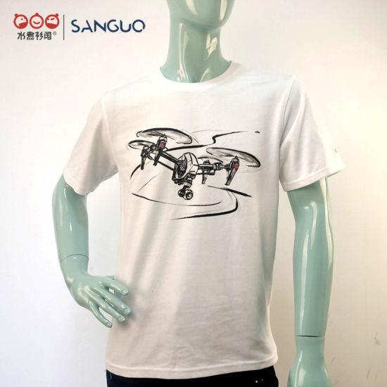 Customized Plain Men Cotton T-Shirt for Sale Logo Design Printing