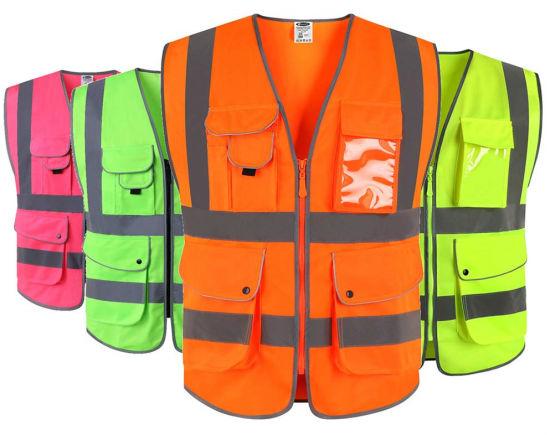 Breathable Mesh Hi Vis Flame Retardant Reflective Waistcoat Jacket Vest for Traffic Road