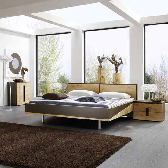 Wholesale/OEM/ODM Home Furnitue 5 Piece Bedroom Furniture Set with King Bed Night Stand Dresser Wardrobe
