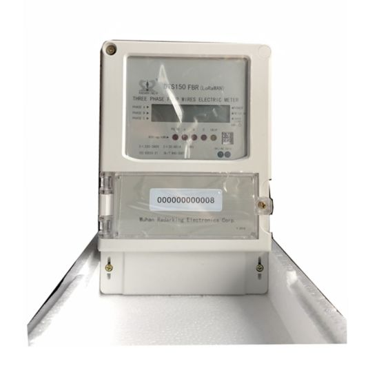 Three Phase Four Wires Lorawan Kilowatt-Hour Meter with LCD Display