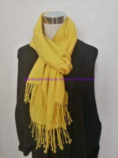 Cashmere Basket Yellow Shawl