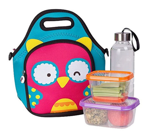 Promotional Cute Printing Cooler Lunch Neoprene Bag with Two Compartment