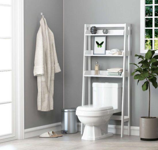 China Bathroom Wooden Over Toilet Shelf