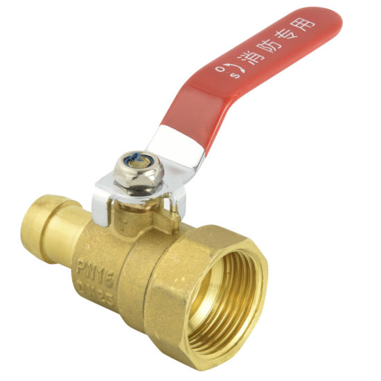 Brass Gas Valve 1/2′ ′ -3/4′ ′ Inch with Female Thread Straight Handle