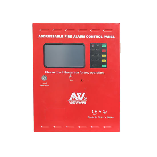 Factory Price Two Wire Touch Screen Addressable Fire Alarm Control Panel