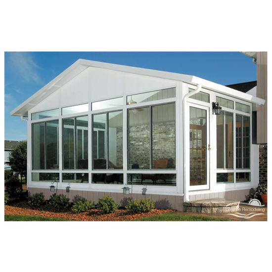Wood Grain Aluminum Glass Sunlight Room Big Prefab Glass Houses Beautiful Sunrooms Glass Houses