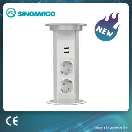 Motorised Electrical Table Power Socket