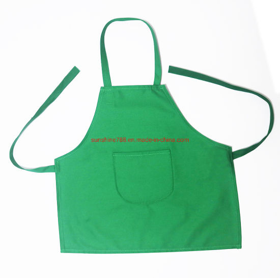 Manufacturer Cotton Polyester Cooking Cleaning Painting Promotion Children Bib Apron