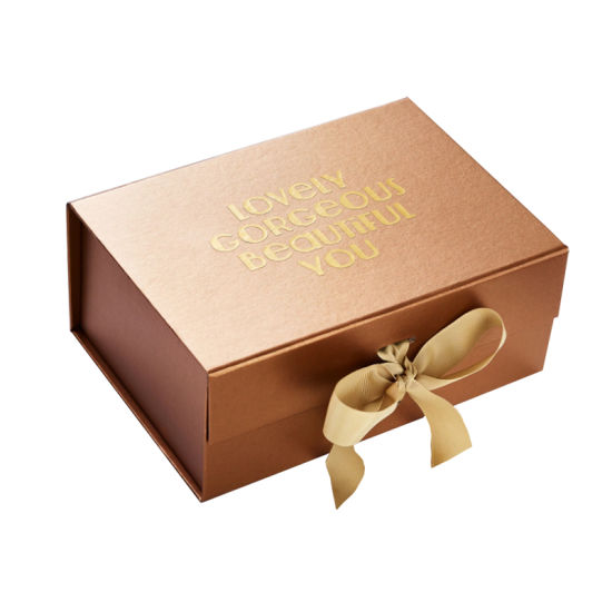 Hot Sale High Quality Ribbon Folding Gift Paper Packaging Box