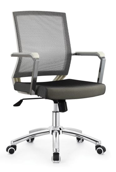 High Quality Modern Office Table Furniture Swivel Staff Computer Plastic Mesh Chair B639A