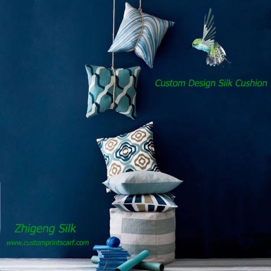 Custom Design Silk Cushion Covers Digital Printed Silk Cushion