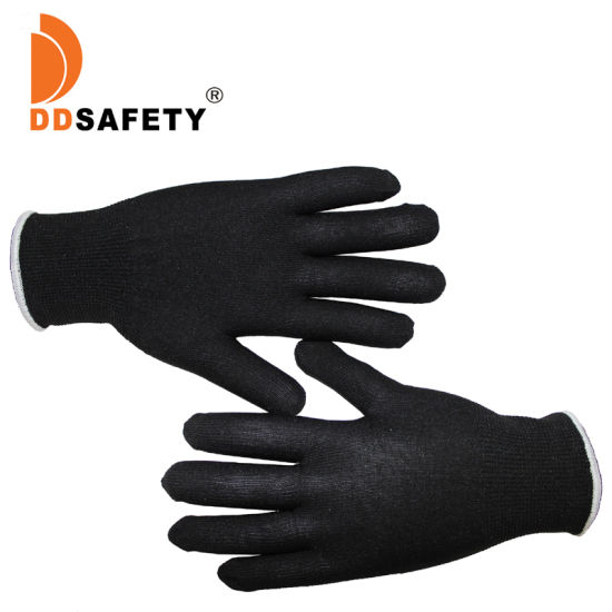 Flexible 13 Gauge Black Nylon Protective Gloves