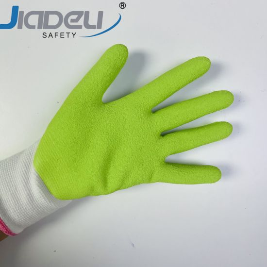 Knitted Coated Latex Foam on Palm Kids Building Really Fit Kids Outdoor Garden Work Gloves
