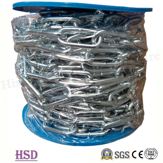 E. Galvanized (DIN763/DIN766/DIN5685) DIN764 Chain Link with Factory Certificate pictures & photos