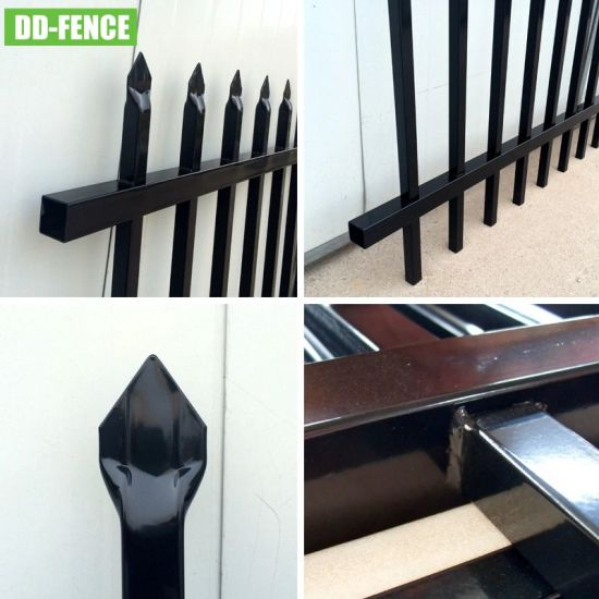 Tubular Steel Welded Pressed Spear Top Security Fence for Yard Garden House Factory School Playground Boundary