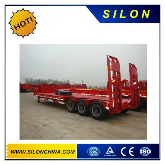 Hydraulic Gooseneck Lowbed Semi Trailer pictures & photos