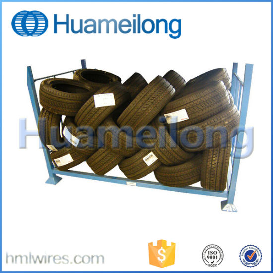 Customized Detachable Stacking Metal Racks for Tires Storage pictures & photos