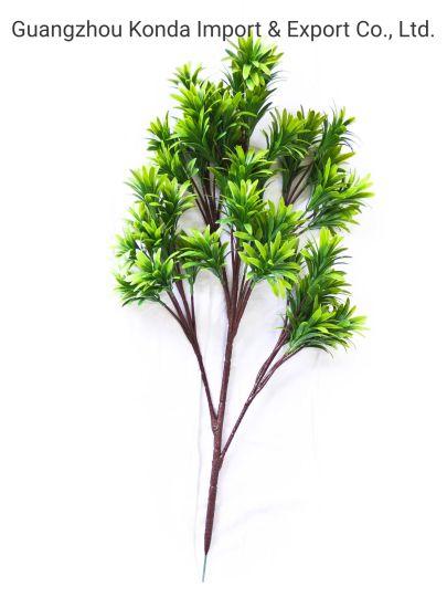 Green Single Artificial Pine Maple Leaves Bush for Bonsai Decorative