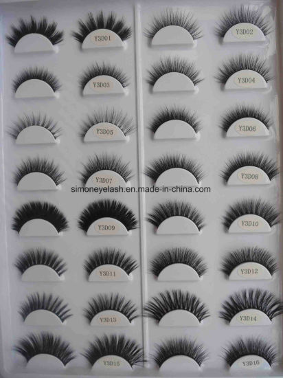 3D Natural Bushy Cross Faux Mink Lashes pictures & photos
