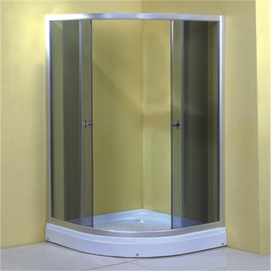 Bathroom Aluminium Frame Double Sliding Shower Enclosure China 90X90 pictures & photos