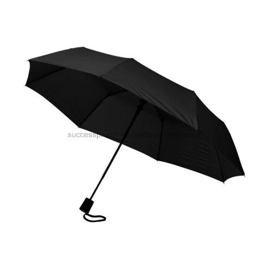 Promotional 21'' 3-Section Auto Open Folding Umbrella
