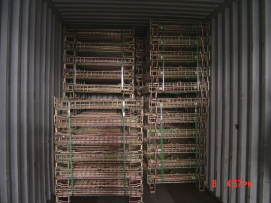 Foldable Welded Warehouse Storage Wire Mesh Cage pictures & photos