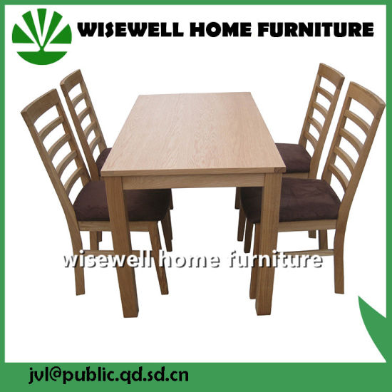 Oak Wood Dining Chair in PU Seat (W-DF-0682) pictures & photos