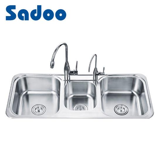 China Triple Bowl Stainless Steel Kitchen Sinks - China Triple ...