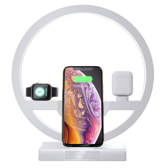 Multifunctional 3-in-1 Table Lamp Bracket Iwatch Air Pods Phone Holders