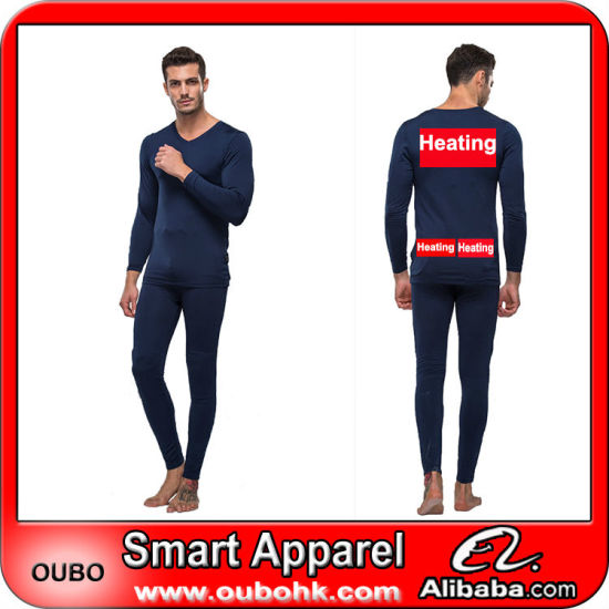 Battery Heated Clothing >> Hot Item Mens Thermal Underwear With High Tech Electric Heating System Battery Heated Clothing Warm Oubohk