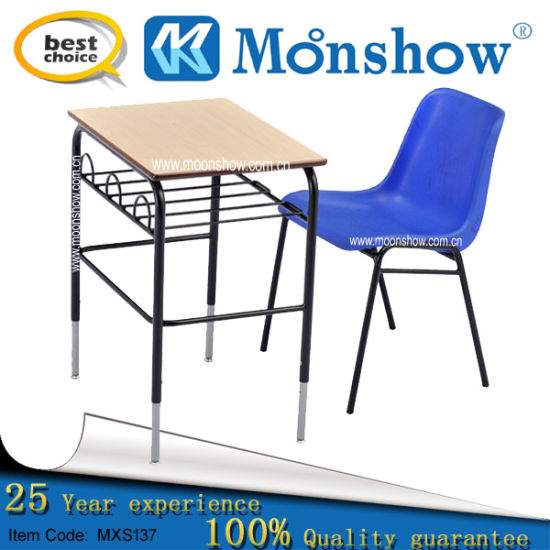 Hot Old Europe Style Height Adjustable Desk for Classroom Set