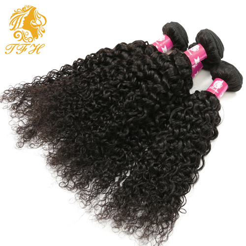 3+1 Kinky Curly Virgin Hair with Closure Brazilian Virgin Hair with Closure 7A Human Hair Kinky Curly Lace Closure with Bundles pictures & photos