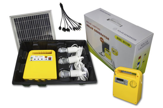 Portable Type 10W Integrated Solar Home Lighting Kits pictures & photos