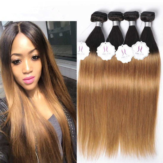 China Tone Brazilian Hair Wholesale Remy Hair Ombre Colored Human ... 8fa166d87c